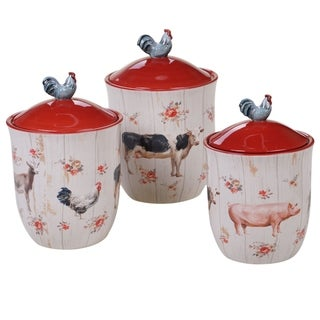 Certified International Farmhouse 3-piece Canister Set