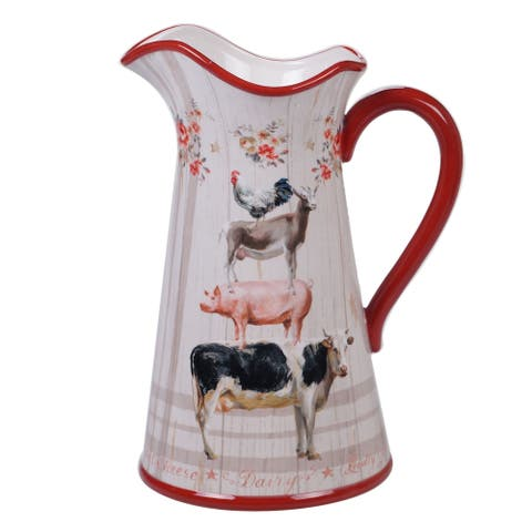 Certified International Farmhouse 3.0 Quart Pitcher