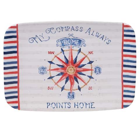 Certified International Nautical Life 14-inch Rectangular Platter