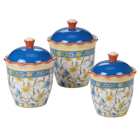Certified International Torino 3-piece Canister Set