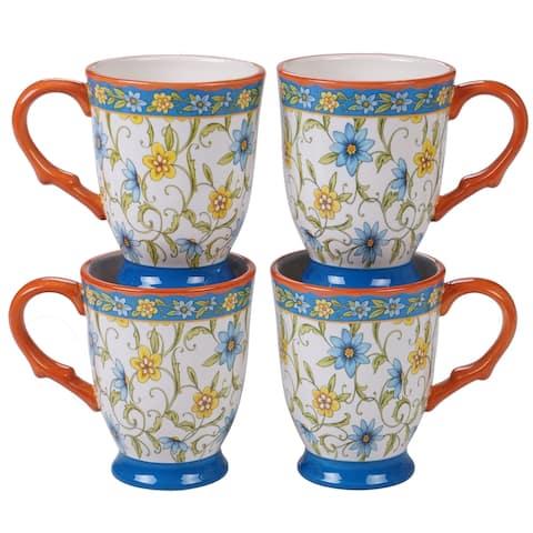 Certified International Torino Mugs, Set of 4