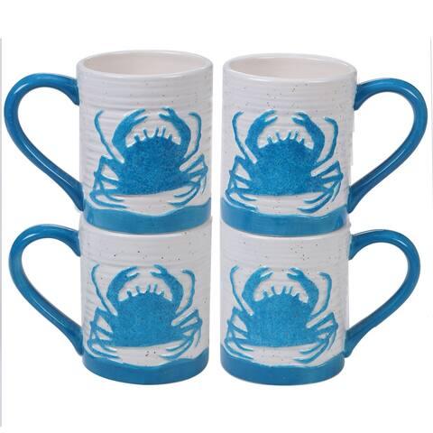 Certified International Natural Coast Crab Mugs, Set of 4