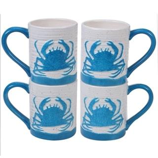 Link to Certified International Natural Coast Crab Mugs, Set of 4 Similar Items in Dinnerware