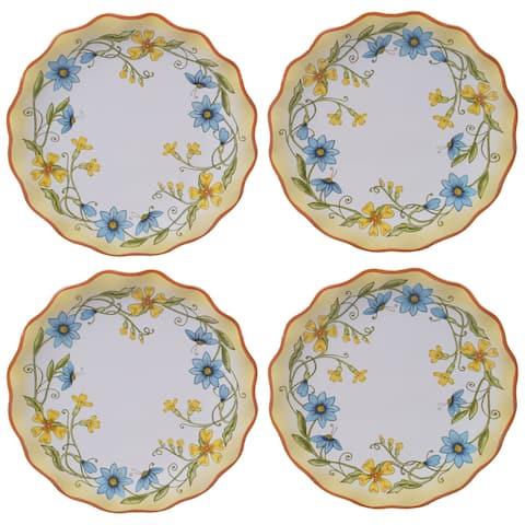 Certified International Torino Canape Plates, Set of 4