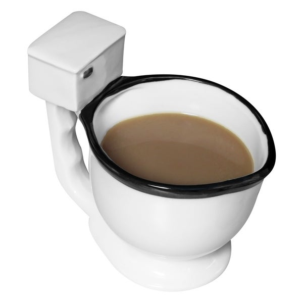 Evelots Toilet Coffee Mug/Cup-Ceramic-Tea/Beverage/Candies-10 Ounces-Hilarious. Opens flyout.