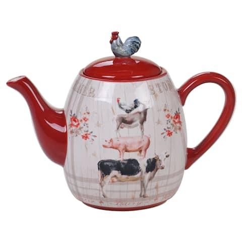 Certified International Farmhouse Teapot