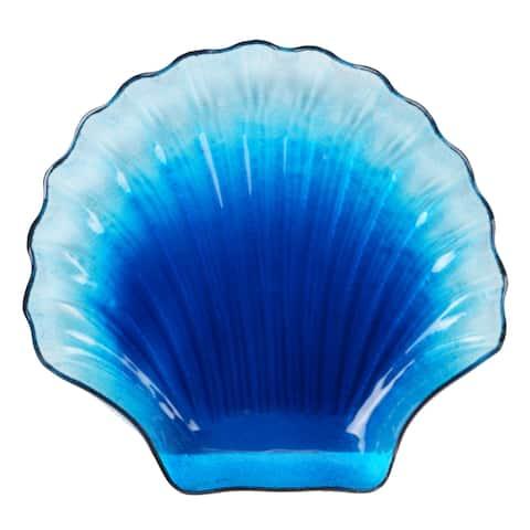Certified International Natural Coast Glass Shell Platter