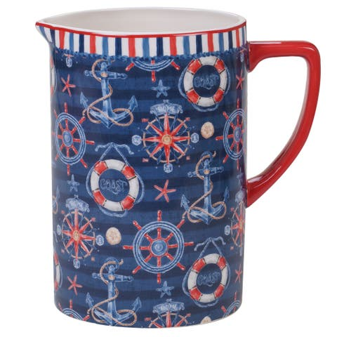 Certified International Nautical Life 2.5 Quart Pitcher