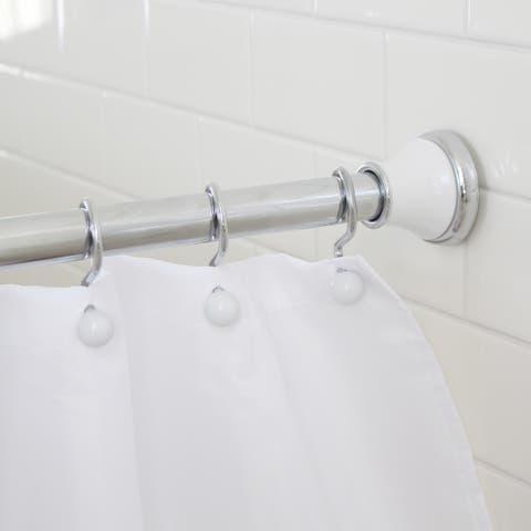 "Splash Home Regal Decorative Shower Curtain Rod - extendable 42"" - 72"" - Silver"