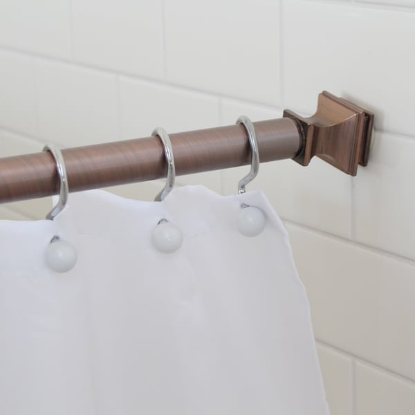 Splash Home Kare Decorative Shower Curtain Rod