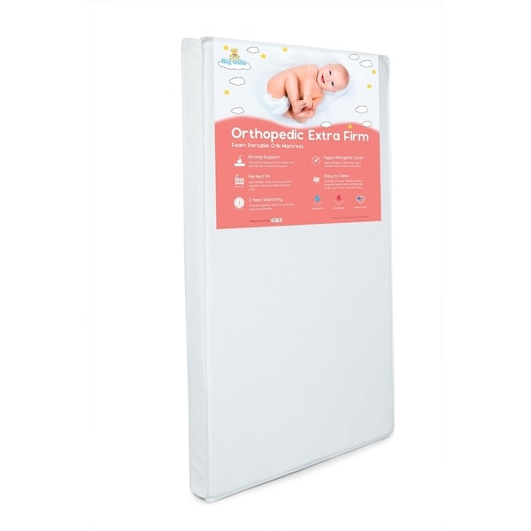 Shop Orthopedic Extra Firm Foam Portable Crib Mattress ...