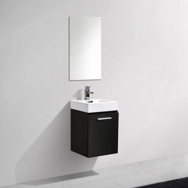 Kubebath Bliss 16 Inch Single Sink Bathroom Vanity Overstock 27172291