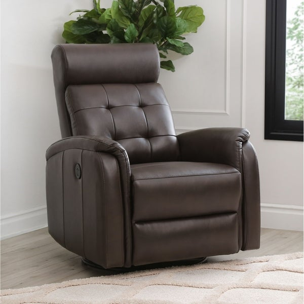 Abbyson Rowan Power Recliner with USB Port