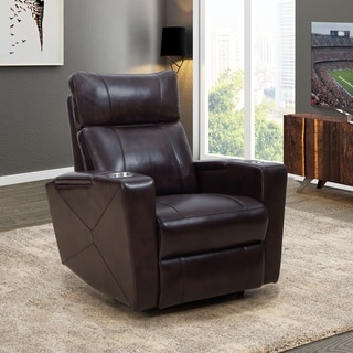 Abbyson Carter Brown Power Theatre Recliner with USB Port