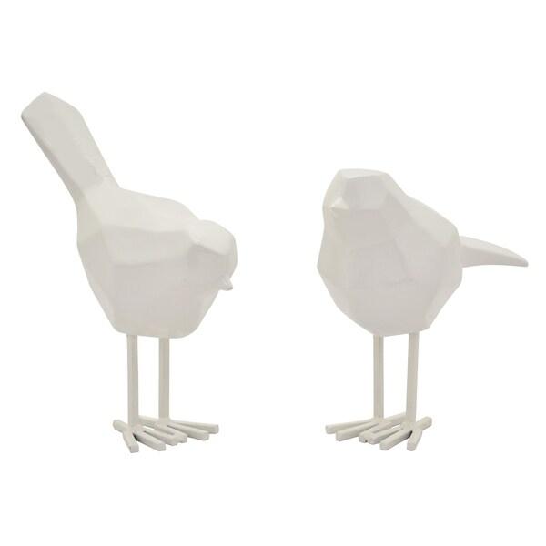 """6.75"""" h White Bird S/2 Shinny White by Three Hands"""