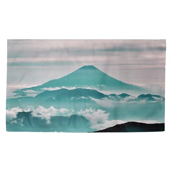 Katelyn Smith Mt. Fuji in Green Dobby Rug