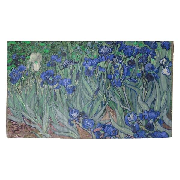 Vincent Van Gogh Irises in Blue Dobby Rug