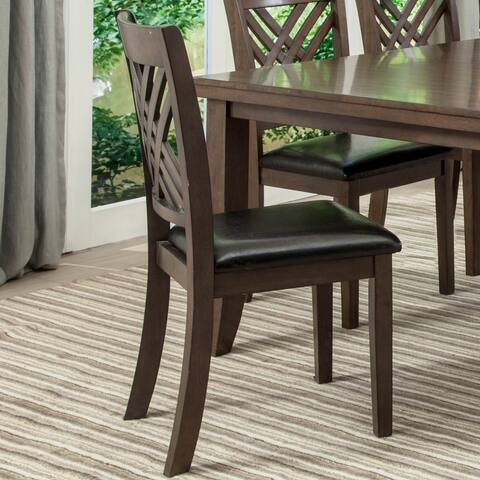 Smith Traditional Wood 2pk of Dining Chairs