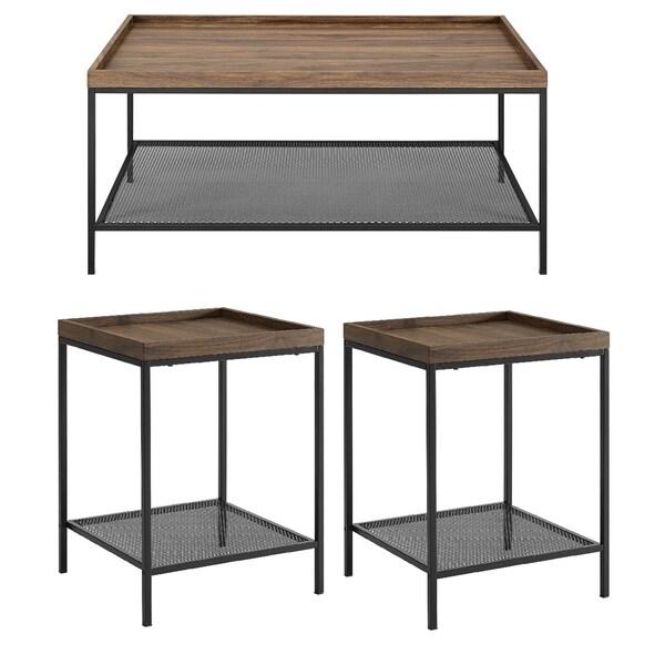 Carbon Loft Edelman 3-piece Tray Top Table Set