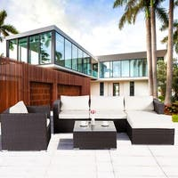 Lucia 6-Piece Outdoor Wicker Sectional Sofa Set