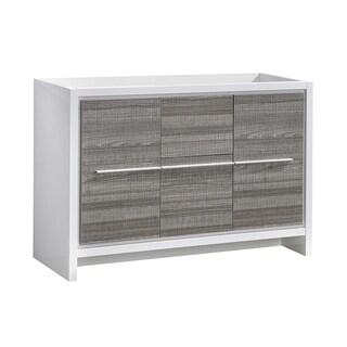 """Fresca Allier Rio 48"""" Ash Gray Single Sink Modern Bathroom Cabinet - Silver"""