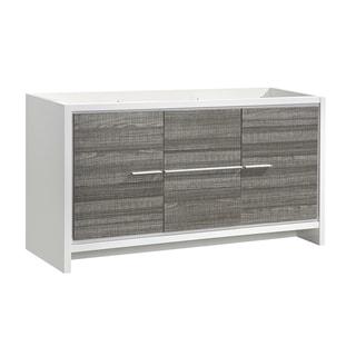 """Fresca Allier Rio 60"""" Ash Gray Single Sink Modern Bathroom Cabinet - Silver"""
