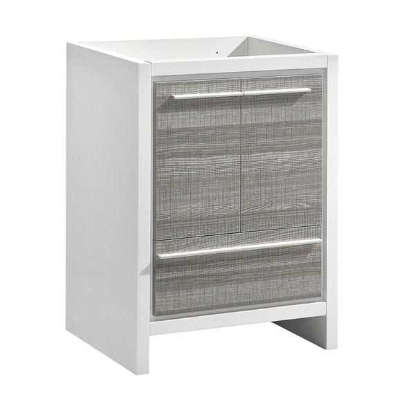 "Fresca Allier Rio 30"" Ash Gray Modern Bathroom Cabinet - Silver"