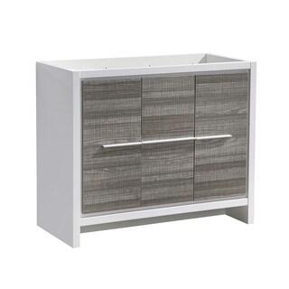"Fresca Allier Rio 40"" Ash Gray Modern Bathroom Cabinet - Silver"