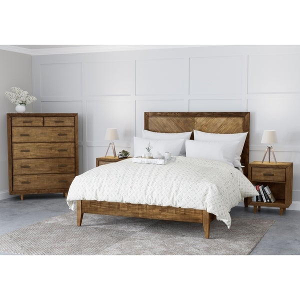 Shop Abbyson Retro Mid Century 4 Piece Bedroom Set