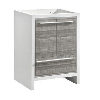"Fresca Allier Rio 24"" Ash Gray Modern Bathroom Cabinet - Silver"