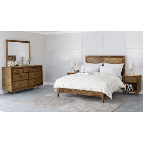 Abbyson Retro Mid Century 5 Piece Bedroom Set