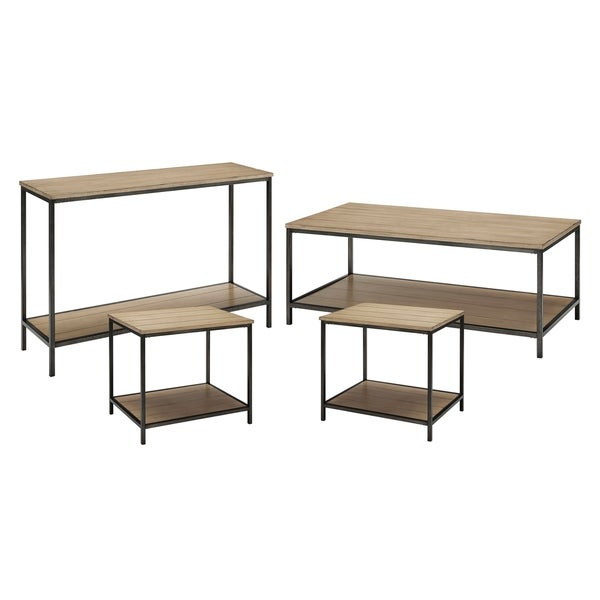 Brooke 4-Piece Set (1 Console, 1 Coffee, 2 End Tables)