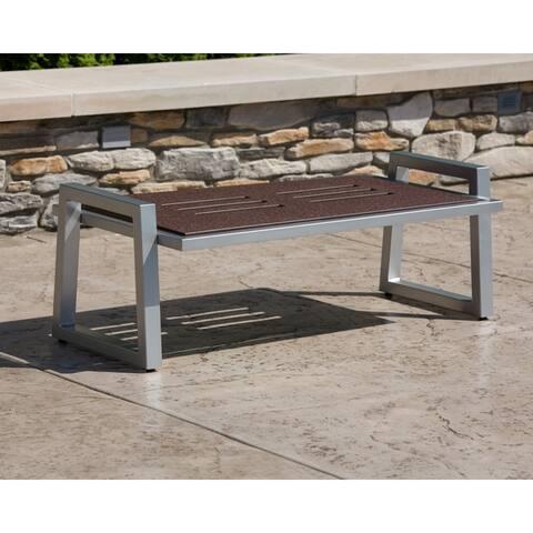 Elan Furniture Vero Outdoor Coffee Table - 48W x 24D x 15H in. - 48W x 24D x 15H in.