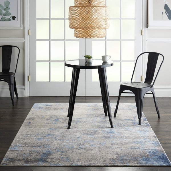 Nourison Sleek Textures Distressed Area Rug