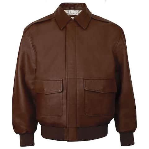 Men's Leather Aviator Jacket