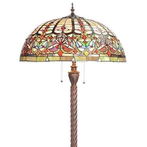 Watusi 3-light Bronze Art Glass Floor Lamp
