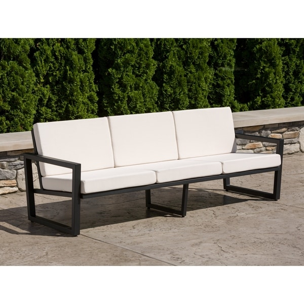 Elan Furniture Vero Outdoor Sofa - Birds Eye Sunbrella Cushions. Opens flyout.