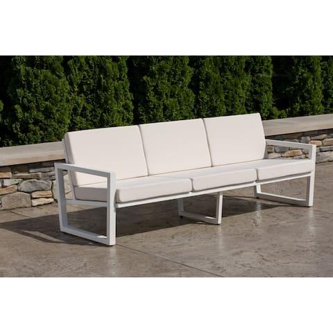 Elan Furniture Vero Outdoor Sofa - Birds Eye Sunbrella Cushions