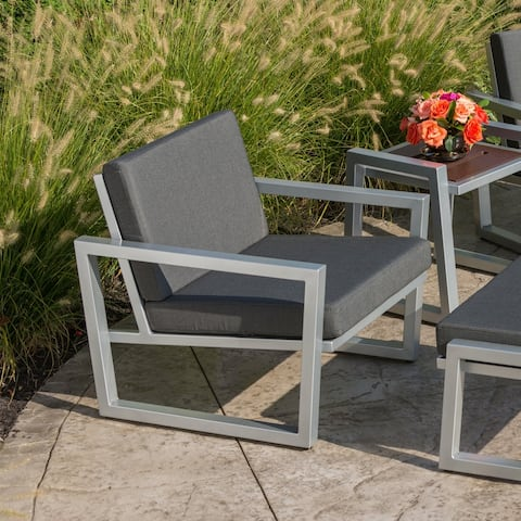 Elan Furniture Vero Outdoor Lounge Chair - Coal Sunbrella Cushions