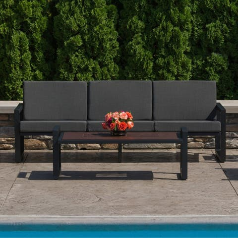 Elan Furniture Vero Outdoor Sofa - Coal Sunbrella Cushions