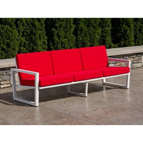 Elan Furniture Vero Outdoor Sofa - Logo Red Sunbrella Cushions