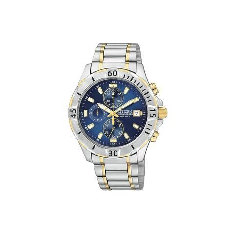 Citizen AN3394-59L Men's Blue Quartz Chronograph Watch
