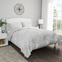3-Piece Comforter Set- Hypoallergenic Polyester Microfiber Bed of Roses Floral Print Down Blanket with Shams by Windsor Home