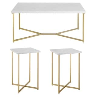 Silver Orchid Ipsen 3-piece Lux Table Set - 42 x 22 x 18H