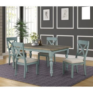 Prato 5-Piece Dining Table Set with Cross Back Chairs