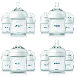 Philips Avent Natural BPA Free 0M+ 3 Feeding Bottles, 4 Oz SCF690/37