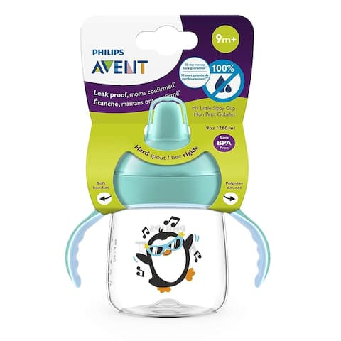 Philips Avent My Little Sippy Cup, 9m+ 9 oz BPA Free, Teal SCF753/40