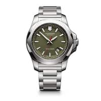 Victorinox Swiss Army Men's 241725.1 I.N.O.X. Green Dial Stainless Steel Watch