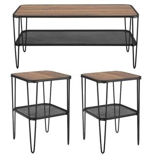 Carbon Loft Ogle 3-piece Hairpin Leg Table Set