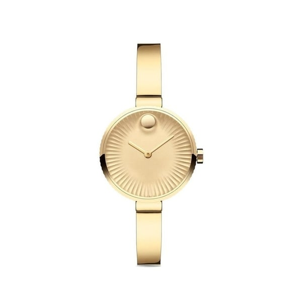 Movado 3680021 Women's Edge Gold Tone Aluminum Quartz Watch